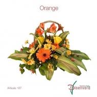 Canasta Flores y Plantas Orange