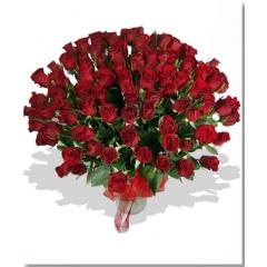Ramo LOVE 100 rosas rojas