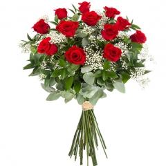 Ramo Pasión de 12 rosas rojas