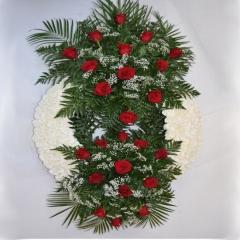 Corona funeraria doble
